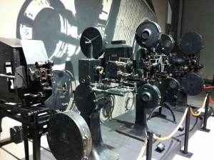 old film projectors. I think